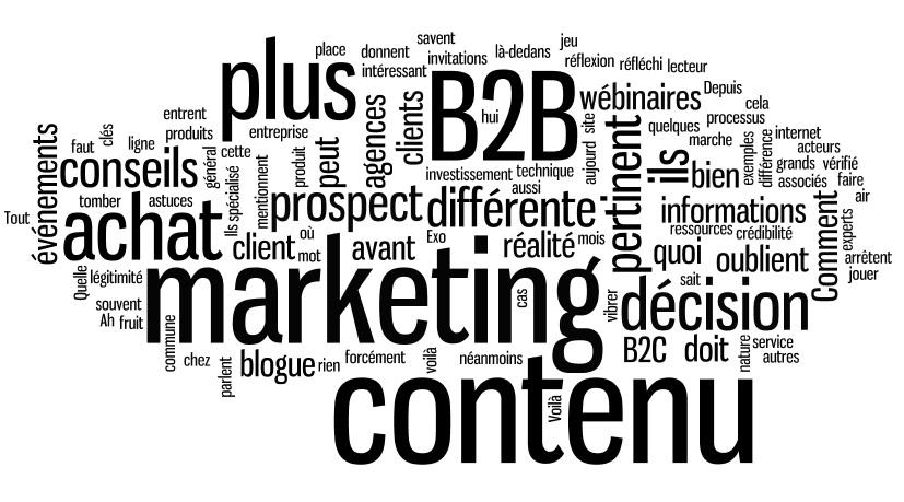 Le marketing de contenu en B2B ? Et pourquoi pas ?