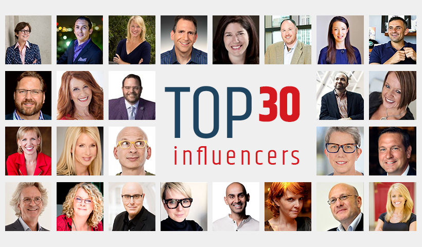 Marketing influencers: our 2018 Top 30
